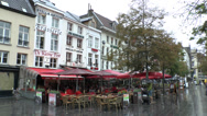 Stock Video Footage of Cafes & restaurants on Groenplaats, Antwerp, Belgium.