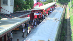 Aerial view of a train station (2 of 4) Stock Footage