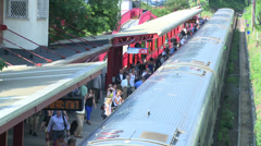 Aerial view of a train station (3 of 4) Stock Footage