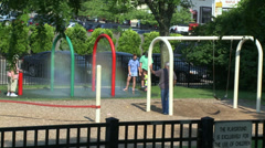 Sunny day at playground (1 of 3) Stock Footage