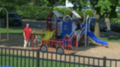 Sunny day at playground (2 of 3) Stock Footage