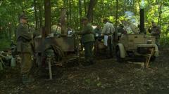 German field kitchen Stock Footage