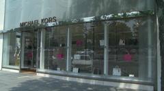 Michael Kors storefront Stock Footage