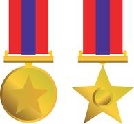 Stock Illustration of military bravery medal of honor isolated.