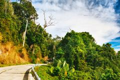 highway in thailand - stock photo