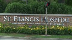 St. Francis Hospital entrance sign Stock Footage