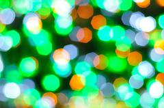 Colorful bokeh for new year and all celebration background Stock Photos
