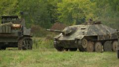 German tank action Stock Footage