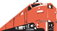 Stock Illustration of diesel train retro.