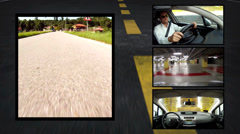 By car, collage Stock Footage