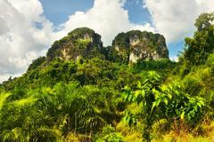 thai mountains - stock photo