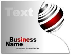 Business card - stock illustration