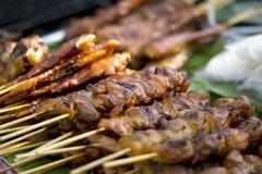 Grilled meat , pork and chicken Stock Photos