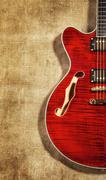 Semi-hollow guitar Stock Photos