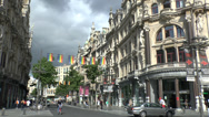 Stock Video Footage of General view along the main shopping street, Leysstraat, in Antwerp, Belgium.