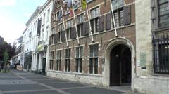 The Rubenshuis (Rubens House) Museum, Antwerp, Belgium. Stock Footage