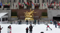 Tourists Skaters Famous Rockefeller Center Christmas Holidays Winter Ice Rink HD Footage