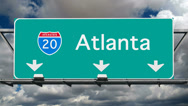 Stock Video Footage of Atlanta - Interstate 20 Sign Time Lapse