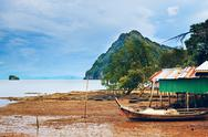 Stock Photo of thai shore