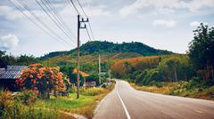 highway in thailand - stock photo