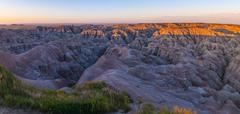 Badlands south dakota at sunrise Stock Photos