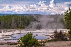 Solitary geyser Stock Photos