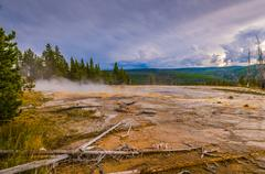 Solitary geyser Stock Photos
