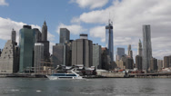Stock Video Footage of New York City Downtown Cityscape One World Trade Center Company NYC Waterfront