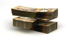 Stack of canadian dollar Stock Illustration