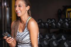 Fitness nainen kutoma Puhelin Kuvituskuvat
