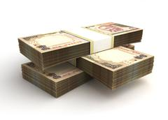 Stack of indian rupee Stock Illustration