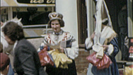 Stock Video Footage of UKRAINIAN GIRLS Ethnic Costume Heritage 1960s Vintage 8mm Film Home Movie 7261