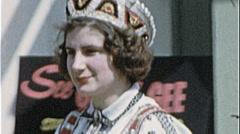 POLISH GIRLS Ethnic Costume Heritage 1960s Vintage 8mm Film Home Movie 7272 Stock Footage