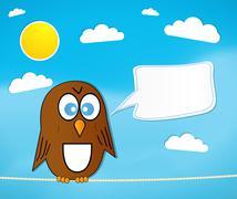 Cartoon Bird Stock Illustration