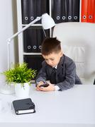 little businessman - stock photo