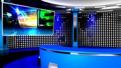 News Virtual Studio Stock Footage