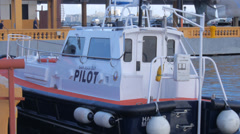 Pilot boat 3 Stock Footage