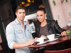 fashionable young couple. - stock photo