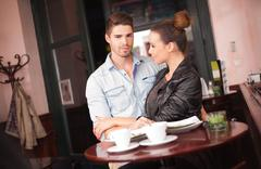 Fashionable young couple. Stock Photos