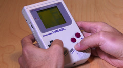 4K Nintendo Game Boy System 3805 Stock Footage