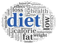 diet concept in tag cloud - stock illustration
