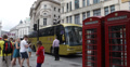 Ultra HD 4K London British Red Telephone Box Busy Car Traffic People Walking 4k or 4k+ Resolution