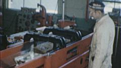 Machinist ENGINE REBUILD Machine SHOP Repair 1960s Vintage Film Home Movie 7272 Stock Footage