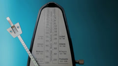 Metronome ticking, closeup Stock Footage