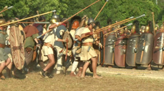 Celt roman attack 44 Stock Footage