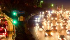 Hollywood 101 freeway / Mulholland Dr traffic Stock Footage