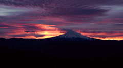 Mt Hood at Sunrise (3) - Sun Breaks Through - stock footage