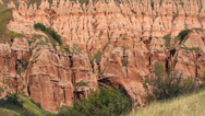 Stock Video Footage of Beautiful red rocks of canyon, geological reservation
