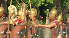 Celt roman battle final 65 Stock Footage