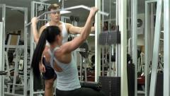 Pump workout Stock Footage
